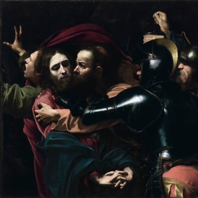 "Caravaggio's ""The Taking of Christ"". Source: newyorker.com"