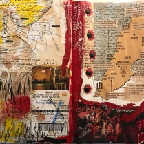 Diary page with maps of Lebanon and Tyre.